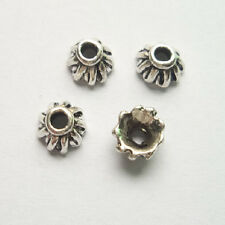 60pcs beautiful Tibet silver Flower End Beads Caps 4x7mm
