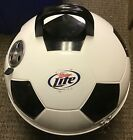 Soccer Ball Miller Lite BBQ Grill White & Black Metal (WITH SOME SCRATCHES)