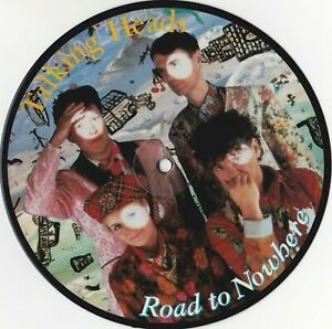 """Talking Heads – Road to Nowhere  EMI P5530  7""""  Picture Disc 1985"""