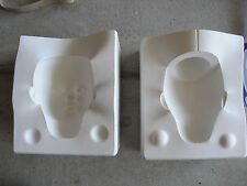 "Vintage Ceramic Girl Doll Head Mold Doll House 19 Sfbj 247 Paris 5"" Tall"