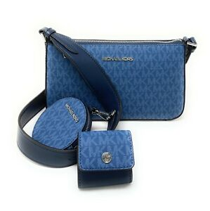 Michael Kors Jet Set Travel Small Crossbody With Tech Attached Leather Bag