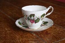 Regency English Fuschia Floral Porcelain Bone China Tea Cup and Saucer England