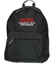 ! atención! malhumorada, antiguo nadador natación mochila bolso de tamaño: 31x42x21cm