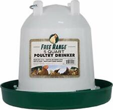 Plastic Poultry Drinker - Twist-lock System for 32 Poultry Game Chicks 5 Quart
