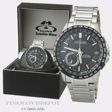 Authentic Citizen Eco-Drive Men's Satellite Wave World Watch CC3005-85E