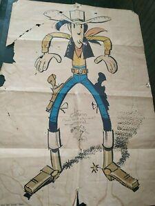 Affiche dédicacée Lucky Luke Morris Années 1970