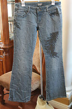 PEOPLE FOR PEACE JEANS PANTS Size 29 HIPPIE BOHO Bootcut MISS ROCK N ROLL ME