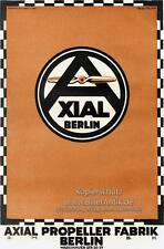 Axial Propeller Fabrik Berlin Weltkrieg Heer Fokker Plakat  Motor A3 114