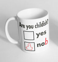 Are You Childish? Printed Cup Ceramic Mug Funny Gift