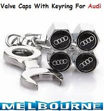 For Audi Car Logo Emblem Wheel Tyre Tire Valve Air Dust Cover Screw Caps A6 Gift
