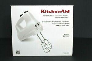 KitchenAid Ultra Power 6-Speed White Hand Mixer KHM614WH