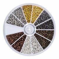 2250 X Tube Crimp Beads 2 mm 2.5 mm Mixed Bracelet Loose Beads Spacer Jewel P4X4