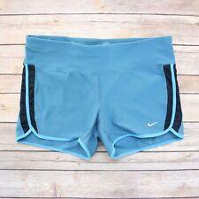 Nike Running Women's Dri Fit Compression Running Shorts L Large Blue & Black