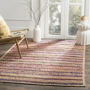 Rug 100% Jute Cotton Reversible Rustic look Rug Braided style Area Runner Rug