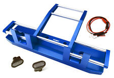 C27117BLUE Integy CNC F Bumper w/ LED for Tamiya 1/14 King Hauler & Globe Liner