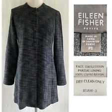 EILEEN FISHER Women's PETITE Small PS Textured Woven Cotton Snap Front Jacket