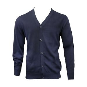 Men's Gents Pure Soft Touch Cotton Cardigan | 5 Buttons | 2 Front Pockets