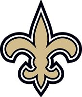 "New Orleans Saints NFL Color Die Cut Vinyl Decal CHOOSE SIZE 3"" - 28"""