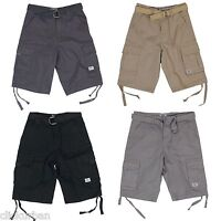JMC Men's Fashion Cargo Shorts with Woven Belt