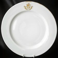 Peerage Baron Sandys Coat of Arms Gold Crest Dinner Plate