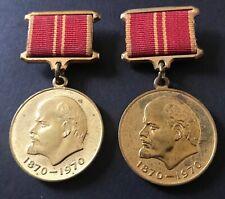 SOVIET 100 YRS LENIN BOTH TYPES ! LABOR / MILITARY Valor ! RARE MEDALS !
