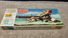 Vintage 1965 Lindberg F-86 Sabre Nato Jet Fighter Viet Nam Action Kit Boxed