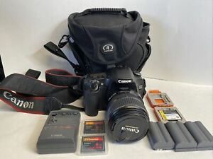 Canon EOS 30D Digital SLR Camera EFS 17-85mm IS Case 3 batteries Charger & 20GB