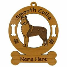 Collie Smooth Standing Dog Breed Ornament Personalized With Your Dogs Name 2185
