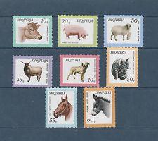 Albanie   faune  animaux domestiques  chiens chats ...  1966  num: 852/59  **
