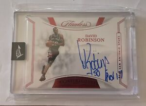 2019-20 FLAWLESS DAVID ROBINSON AUTO FINISHES SIGNATURE INSCRIBED RUBY SP /15