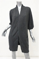 Vince Cashmere Cardigan Charcoal Size Large Open Front Short Sleeve Sweater