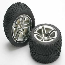 Traxxas 5573 Rear Tires & Wheels Assembled (2) Jato Sport  Stampede Rustler