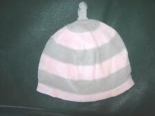 3-6 0-3 2 Pack 6-12 Months Old Navy Pink /& Ivory Beanie Caps Hats