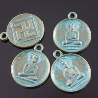 20X Antique Style Vintage Bronze Tone Buddha Portrait Charms Pendant 22*18*2mm