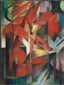 Franz Marc The Foxes Poster Reproduction Paintings Giclee Canvas Print