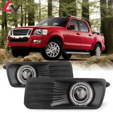 For Ford Explorer Sport Trac 07-10 Clear Lens Pair Fog Light Halo Projector
