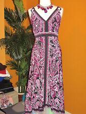 INC International Concepts NWT $100 2X women's dress paisley black magenta