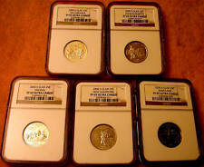 2000 S CLAD NGC PF 69 UC FIVE(5) COIN STATE QUARTER SET