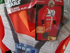 Star Wars X-WING FIGHTER PILOT Costume ADULT S New JUMPSUIT HEADPIECE MEDALLION