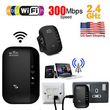300Mbps Wifi Repeater Wireless-N 802.11 AP Router Extender Signal Booster Black