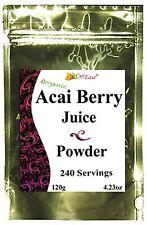 Organic Acai Berry Juice Bulk Powder Pure Perfect Burn 240 Cups Kosher Gmo Free