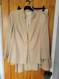 ANN HARVEY Beige/Stone Jacket & Skirt Suit UK Size 22 - IMMACULATE CONDITION
