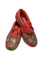 NEW! Sperry Top-Sider Duck Shoe Waterproof Rubber Womens Sz 5 Leather Trim/Laces
