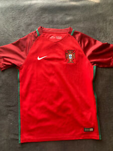 Nike Portugal Football 2016 Youth Jersey Tiago #7 Size M
