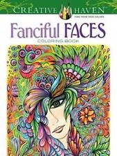 Creative Haven Fanciful Faces Coloring Book by Miryam Adatto (Paperback, 2014)