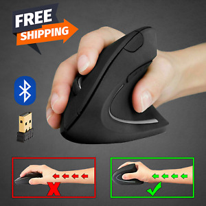 Mouse Vertical Wireless Ergonomic 2.4G Bluetooth Optical USB Battery Gaming Mice