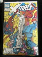 X-Force #4 VF/NM Spider-Man X-Over Rob Liefeld 1991 Marvel Comics Cable Domino