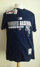 New York Yankees t-shirt men's small cotton navy blue