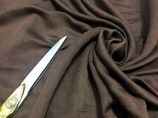 * Nouveau * 100% soie marron Crinkle Chiffon tissu robe/CRAFT/écharpe * Free p&p *