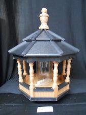 Poly Bird Feeder Amish Gazebo Handcrafted Homemade Cedar & Black Roof